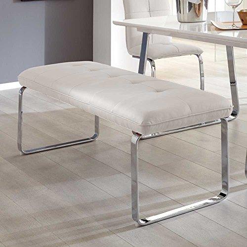 Sitzbank in Weiß ohne Rückenlehne Breite 160 cm Sitzplätze 3 Sitzplätze Pharao24