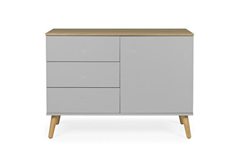 tenzo 1674 612 dot designer sideboard holz grau eiche. Black Bedroom Furniture Sets. Home Design Ideas