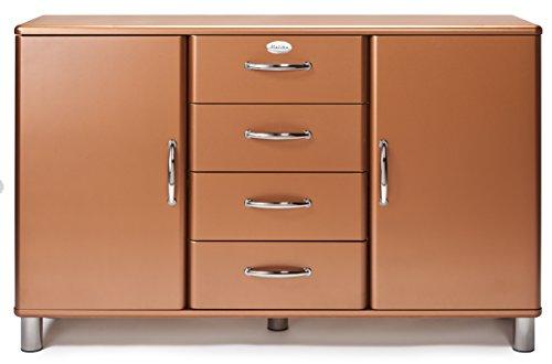 Tenzo 5036-089 Malibu Deluxe - Designer Sideboard, kupfer metallic, MDF lackiert, 92 x 146 x 41 cm
