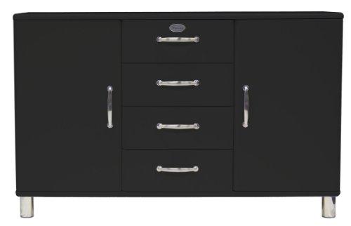 Tenzo 5236-033 Malibu - Designer Sideboard 92 x 146 x 41 cm, MDF lackiert, schwarz
