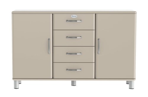 Tenzo 5236-083 Malibu, Designer Sideboard, 92 x 146 x 41 cm, MDF lackiert, warm grey
