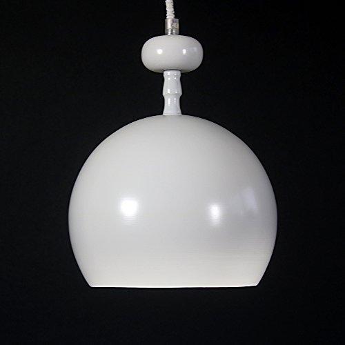 lounge-zone Pendelleuchte Pendellampe Hängeleuchte Hängelampe Leuchte VERRE BLANC Kugel rund weiß matt 20cm 13078