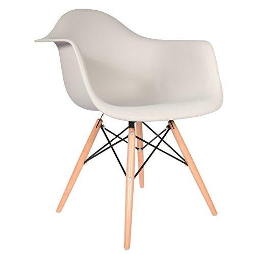 Daw stuhl hellgrau natur esszimmerst for Design stuhl daw