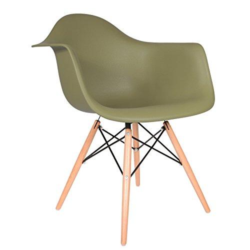 DAW Stuhl - Militärgrün, Natur