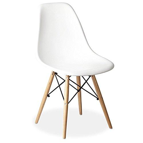 Gyster DAW Stuhl, Polypropylen, Weiß, 53.5x 47x 82cm