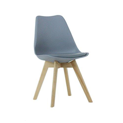 P & N Homewares® Lorenzo Tulip Stuhl Kunststoff Retro Stühle weiß schwarz grau rot gelb pink grün blau grau