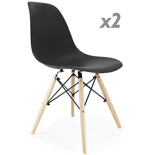 Stuhl Eiffelturm inspiriert schwarz 2 Stück