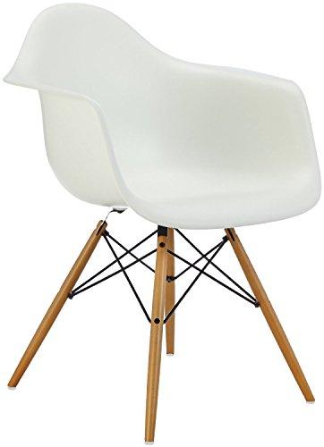 vitra 4401120011 stuhl daw eames pl armchair gestell ahorn gelbl schale wei esszimmerst. Black Bedroom Furniture Sets. Home Design Ideas