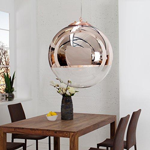 CAGÜ - DESIGN LOUNGE HÄNGELAMPE [PELOTA] GLAS & KUPFER 30cm Ø