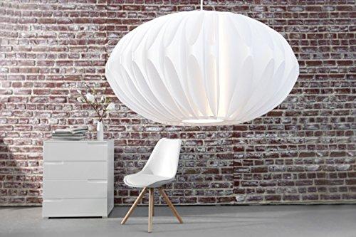 DuNord Design Hängelampe Hängeleuchte CLARA weiss 50 cm