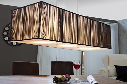DuNord Design Hängelampe Hängeleuchte NOBLE schwarz 80cm