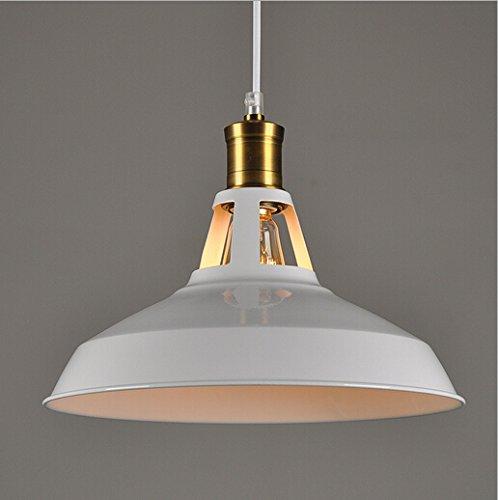 Hahaemall Moderner hängender Lampenschirm, Metall, für Balkon/ Lagerhalle, Weiß