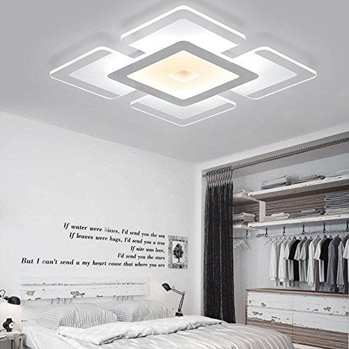 LED Deckenlampen Leuchte Modern Design Metall und Acrylic Deckenlampe Stilrichtung Beleuchtung deco lampe Deckenstrahler Max 44W für Büro Wohnzimmer Schlafzimmer Dimmen