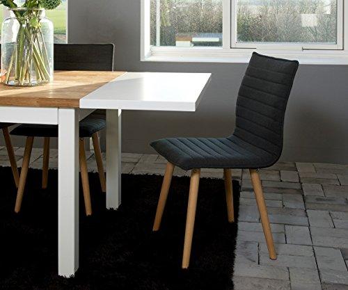 stuhl katia grau holzgestell eiche massiv mit keder esszimmerstuhl esszimmerst. Black Bedroom Furniture Sets. Home Design Ideas