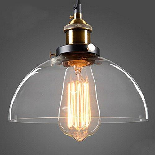 hahaemall Indoor CLEAR Glas half-globe Mini Anhänger Licht Lampenschirm (Leuchtmittel nicht enthalten)