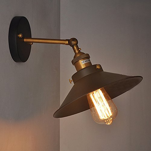 hahaemall industrie edison simplicity wandhalterung lampe sconces aged stahl fertig. Black Bedroom Furniture Sets. Home Design Ideas