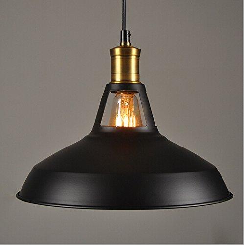 hahaemall Moderne Industrielle Loft Bar Metall Anhänger Lampenschirm für Balkon Lager schwarz