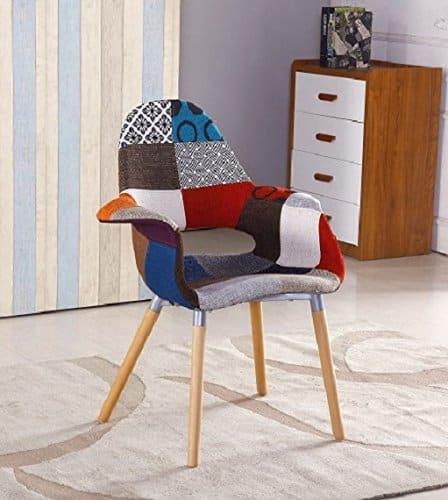 p n homewares moda patchwork stuhl esszimmerstuhl oder b rostuhl oder stuhl wundersch ner. Black Bedroom Furniture Sets. Home Design Ideas