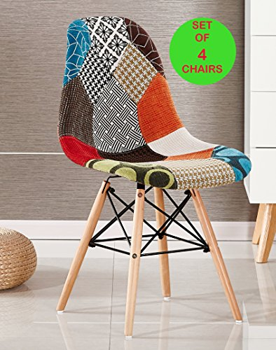 p n homewares set von 4 moda patchwork stuhl esszimmerstuhl oder b rostuhl oder stuhl. Black Bedroom Furniture Sets. Home Design Ideas