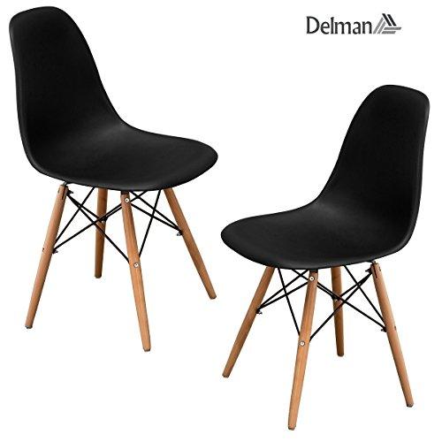 2x oder 4x Delman Esszimmerstuhl Esszimmerstühle Wohnzimmerstühle Designerstühle Retro Design 02-0014