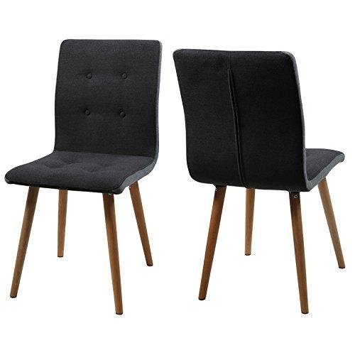 AC Design Furniture 2-er Set Charlotte, Sitz/Rücken Stoff