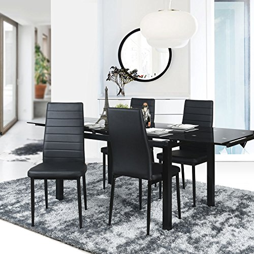 aingoo esszimmerst hle 4er set essgruppe sitzgruppe wohnzimmerstuhl esszimmerstuhl k chenstuhl. Black Bedroom Furniture Sets. Home Design Ideas