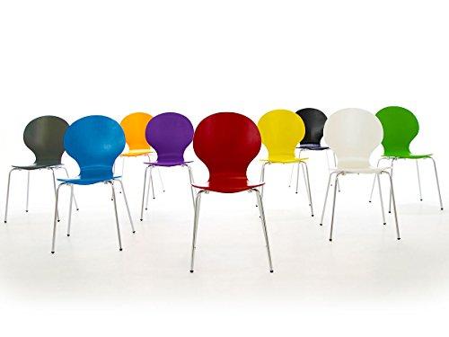 Stapelstuhl bistrostuhl stuhl esszimmerstuhl k chenstuhl for Design stapelstuhl