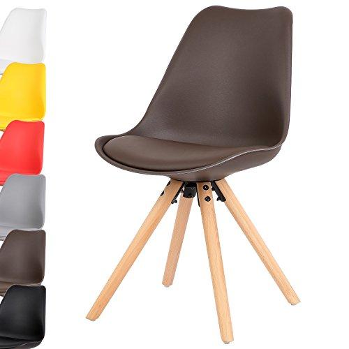 WOLTU 1 Stück Esszimmerstuhl Design Stuhl Küchenstuhl Kunstleder Holz Neu Design #728-a