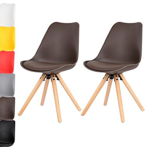 WOLTU 2 x Esszimmerstühle 2er Set Esszimmerstuhl Design Stuhl Küchenstuhl Kunstleder Holz Neu Design #620-a