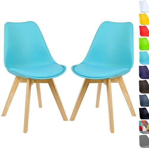 WOLTU 2 x Esszimmerstühle Esszimmerstuhl Design Stuhl Küchenstuhl Holz, Neu Design Set #713-a