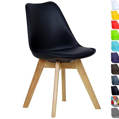 WOLTU #555 1 x Esszimmerstuhl 1 Stück Esszimmerstuhl Design Stuhl Küchenstuhl Holz Neu Design