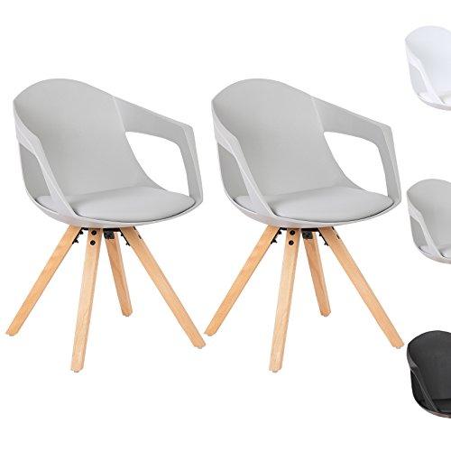 WOLTU® #617 2 x Esszimmerstühle 2er Set Esszimmerstuhl mit Holzbeine Design Stuhl Küchenstuhl Holz, Neu Design