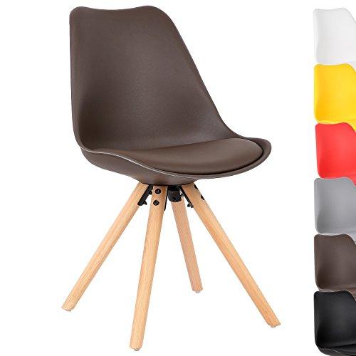 WOLTU® #728 1 Stück Esszimmerstuhl, mit Sitzfläche aus Kunstleder, Design Stuhl, Küchenstuhl, Holz, Neu Design
