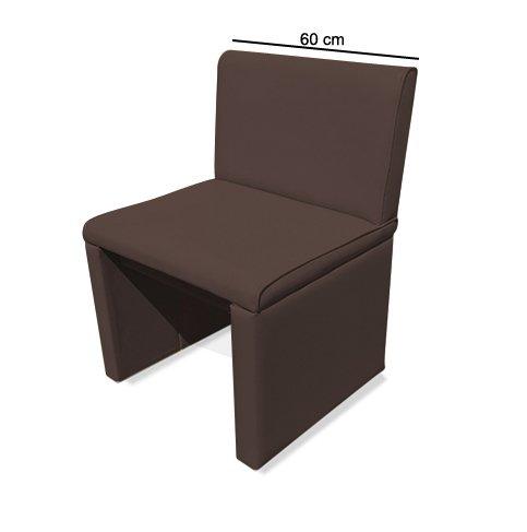 SAM® Esszimmer Sitzbank Family Brown in braun, 60 cm Breite, Sitzbank mit pflegeleichtem SAMOLUX® Bezug, angenehmer Sitzkomfort, frei im Raum aufstellbare Bank mit Rückenlehne