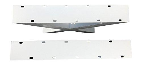 Design Tischgestell X Gestell Kreuzgestell Stahl weiß TUX 304 Tischuntergestell Tischkufe Kufengestell Paar 690x725 mm