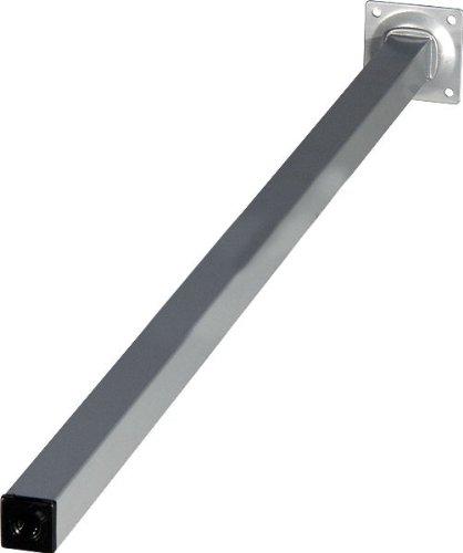 4er Set Tischbeine Möbelfüße L 800 mm Eckig Alu-silbermatt