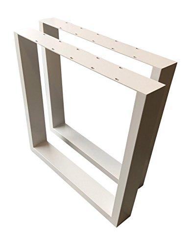 Design Tischbein Tischgestell Stahl weiß Trapez-Form TUG 604 Tischuntergestell Tischkufe Neu Paar