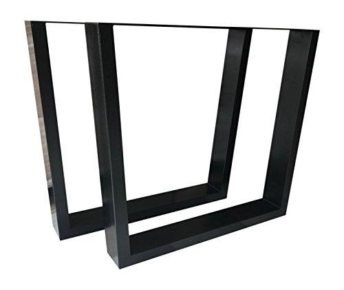 Design Tischbein Tischgestell Stahl schwarz Trapez-Form TUG 605 Tischuntergestell Tischkufe Neu Paar