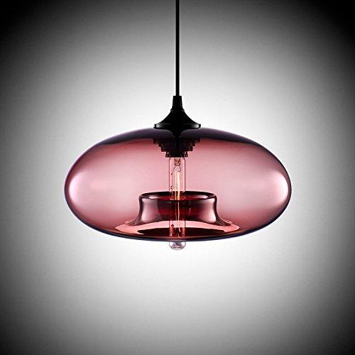 KJLARS Leuchtmittel rund Kugelleuchte Pendellampe Hängeleuchte Modern Hängelampe Klassische Pendelleuchte im Essentisch (Rosa)