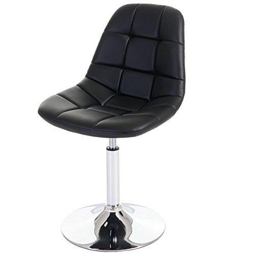 2x esszimmerstuhl cascina stuhl drehstuhl chrom kunstleder schwarz esszimmerst. Black Bedroom Furniture Sets. Home Design Ideas