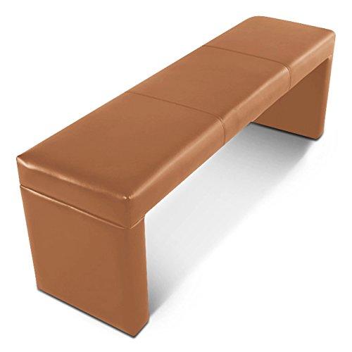 SAM® Esszimmer Sitzbank Gerome in cappuccino, Bank in 180 cm Breite, SAMOLUX®-Bezug für angenehmen Sitzkomfort, frei im Raum aufstellbare Essbank ohne Rückenlehne