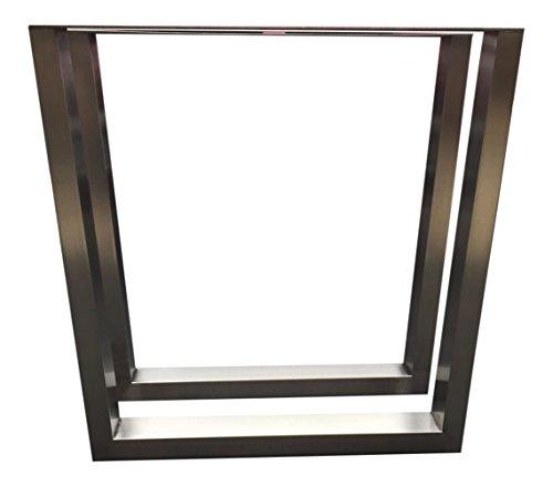 Design Tischbein Tischgestell Edelstahl TUG 603 Trapez-Form Tischuntergestell Tischkufe Neu 1 Paar