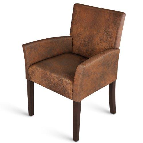 SAM® Stoff Armlehnstuhl wildlederoptik kolonial MODICA Stuhl schlicht Polster elegant komfortabel