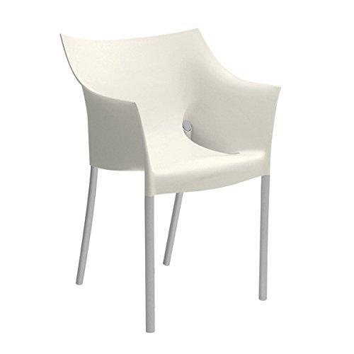 Kartell - Dr. NO Stuhl - wachsweiß - Philippe Starck - Design - Esszimmerstuhl - Küchenstuhl - Speisezimmerstuhl