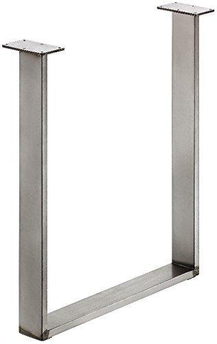 GedoTec® Stahl-Tischkufe Tischgestell zum Anschrauben | Tragkraft 150 kg | Metall Rohstahl lackiert im Vintage / Retro Look | Profil 80 x 20 mm | Tischbein höhen-verstellbar +10 mm | Markenqualität für Ihren Wohnbereich