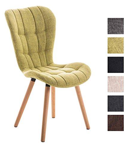 clp esszimmerstuhl elda mit stoffbezug lehnstuhl mit holzgestell polsterstuhl besucherstuhl. Black Bedroom Furniture Sets. Home Design Ideas
