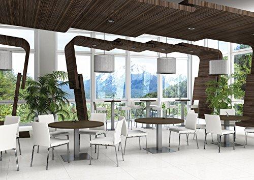 Tischgestell Tischsäule Bistrogestell Hera 400 Aluminium eckig Höhe 725 mm
