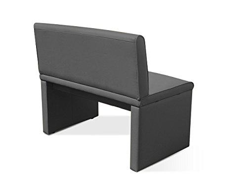 SAM® Esszimmer Sitzbank Family Gibson in grau, 160 cm Breite, Sitzbank mit pflegeleichtem SAMOLUX® Bezug, angenehmer Sitzkomfort, frei im Raum aufstellbare Bank mit Rückenlehne