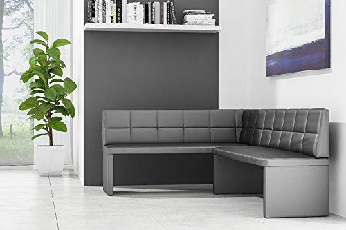 Eckbank-ELA-Exklusiv-130-x-170-cm-Schwarz-Links ( Sondermaße auf Anfrage möglich )