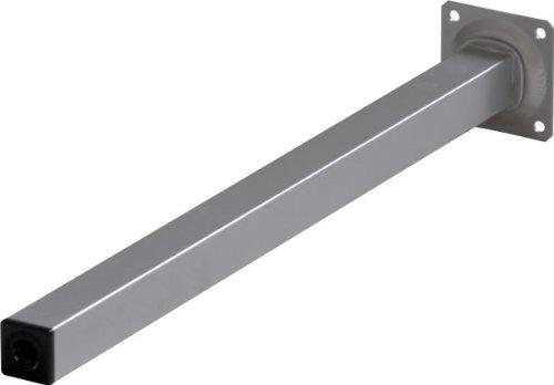 4er Set Tischbeine Möbelfüße L 400 mm Eckig Alu-silbermatt